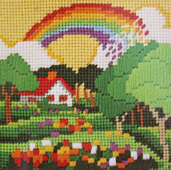 Hey, I found this really awesome Etsy listing at https://www.etsy.com/listing/198847221/80s-under-the-rainbow-needlepoint-kit