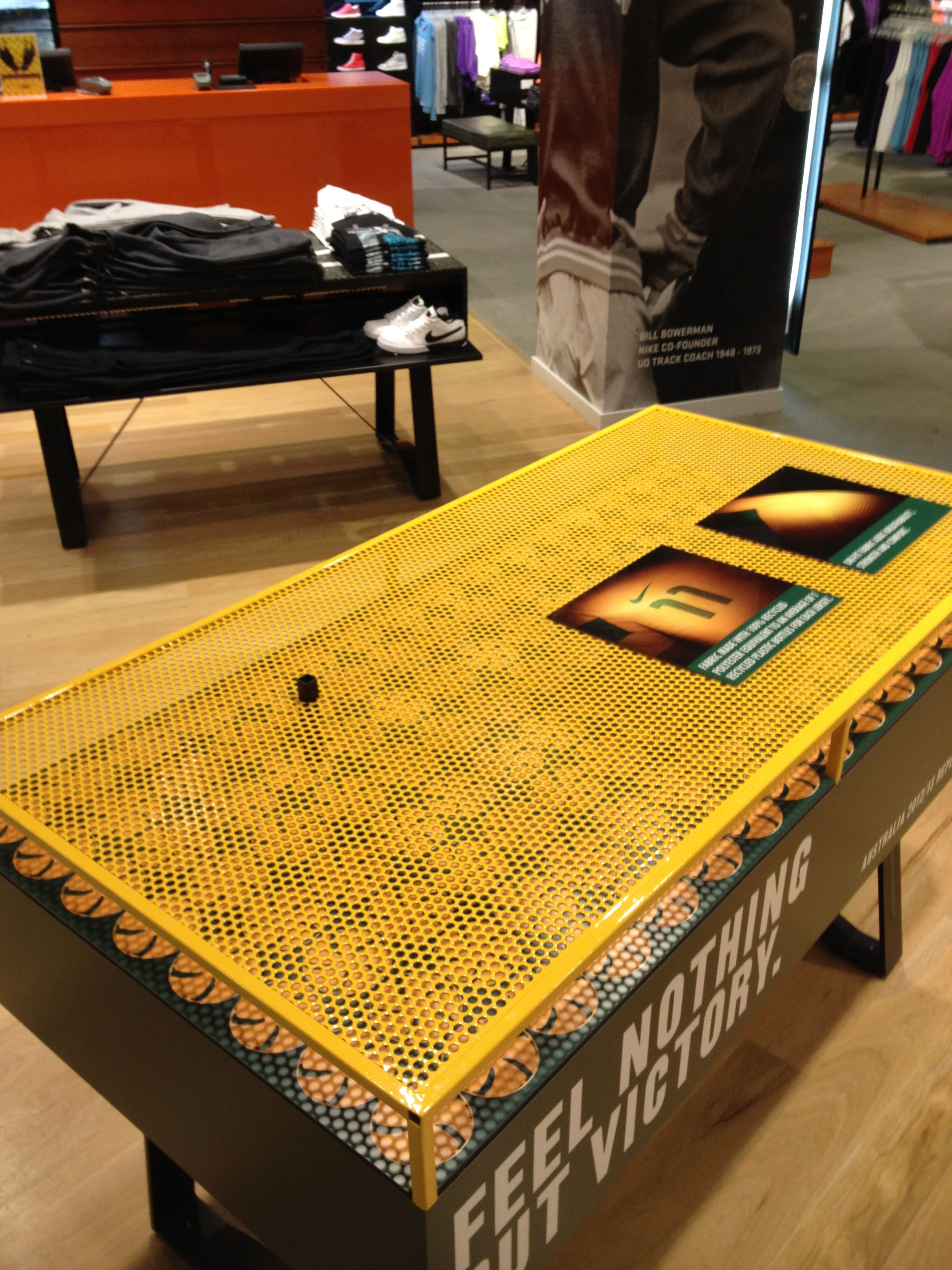 Nike Football Socceroos retail table display sports in store