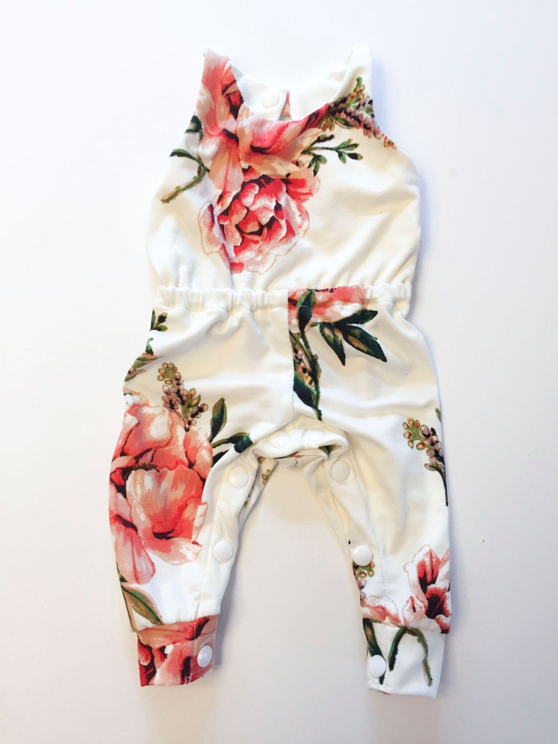 fa0361eb74e9 I love the flower print on this for a baby girl summer outfit - perfect  with a cute flower or bow headband