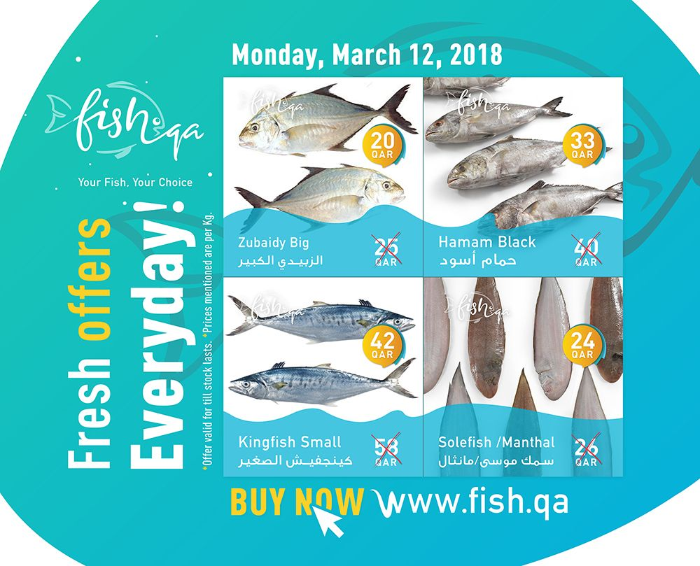 Offer Today S Special Offers On Selected Fish Visit Www Fish Qa Offers Onlinefish Freshfish Qatar Offer Fish Fresh Fish