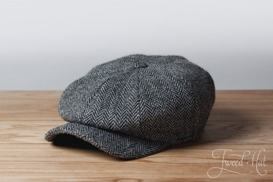 72a162282 Grey Kells Tweed 8-piece Cap by Hanna Hats | caps hats style | Твид ...