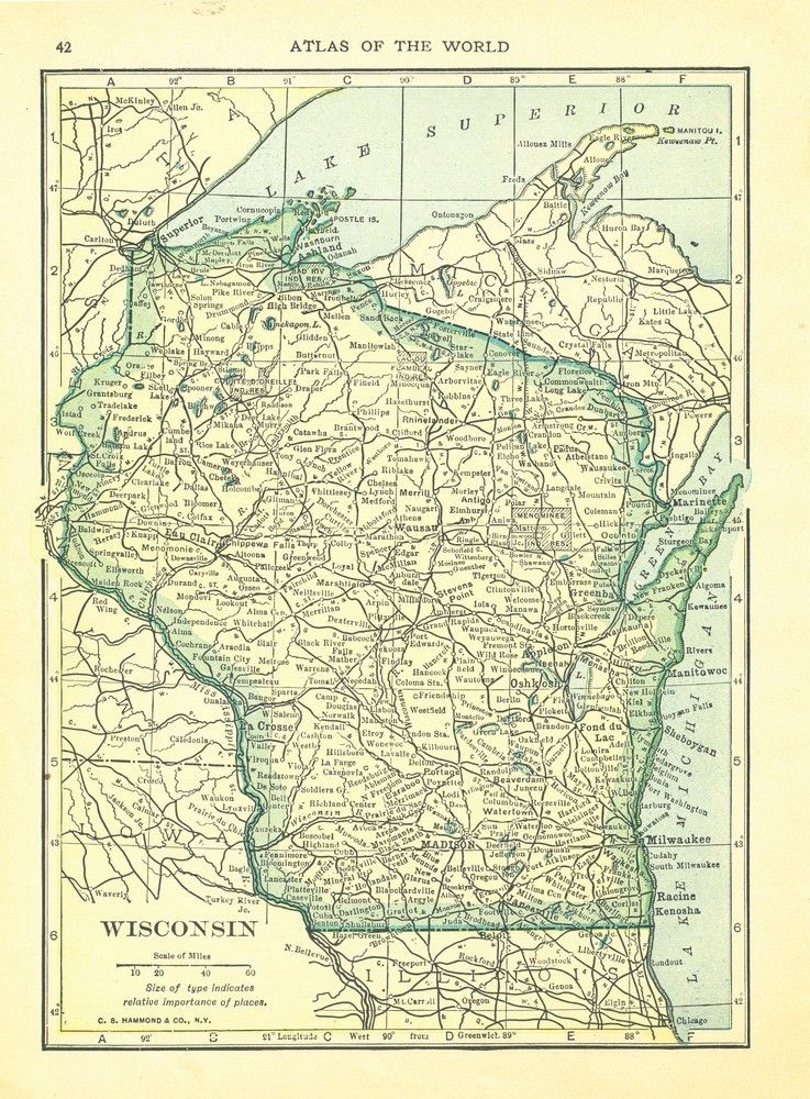 graphic regarding Door County Map Printable identify Michigan map upon just one facet and Wisconsin map upon a single aspect