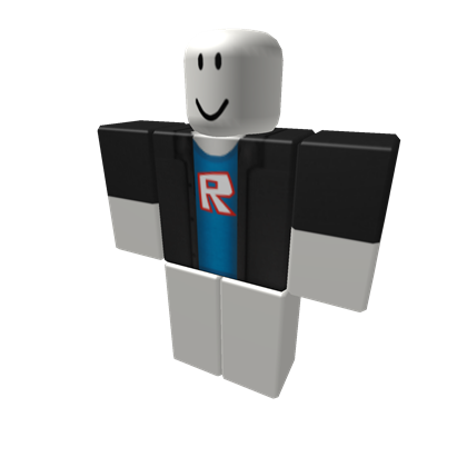 Black Jacket with Blue Shirt - ROBLOX