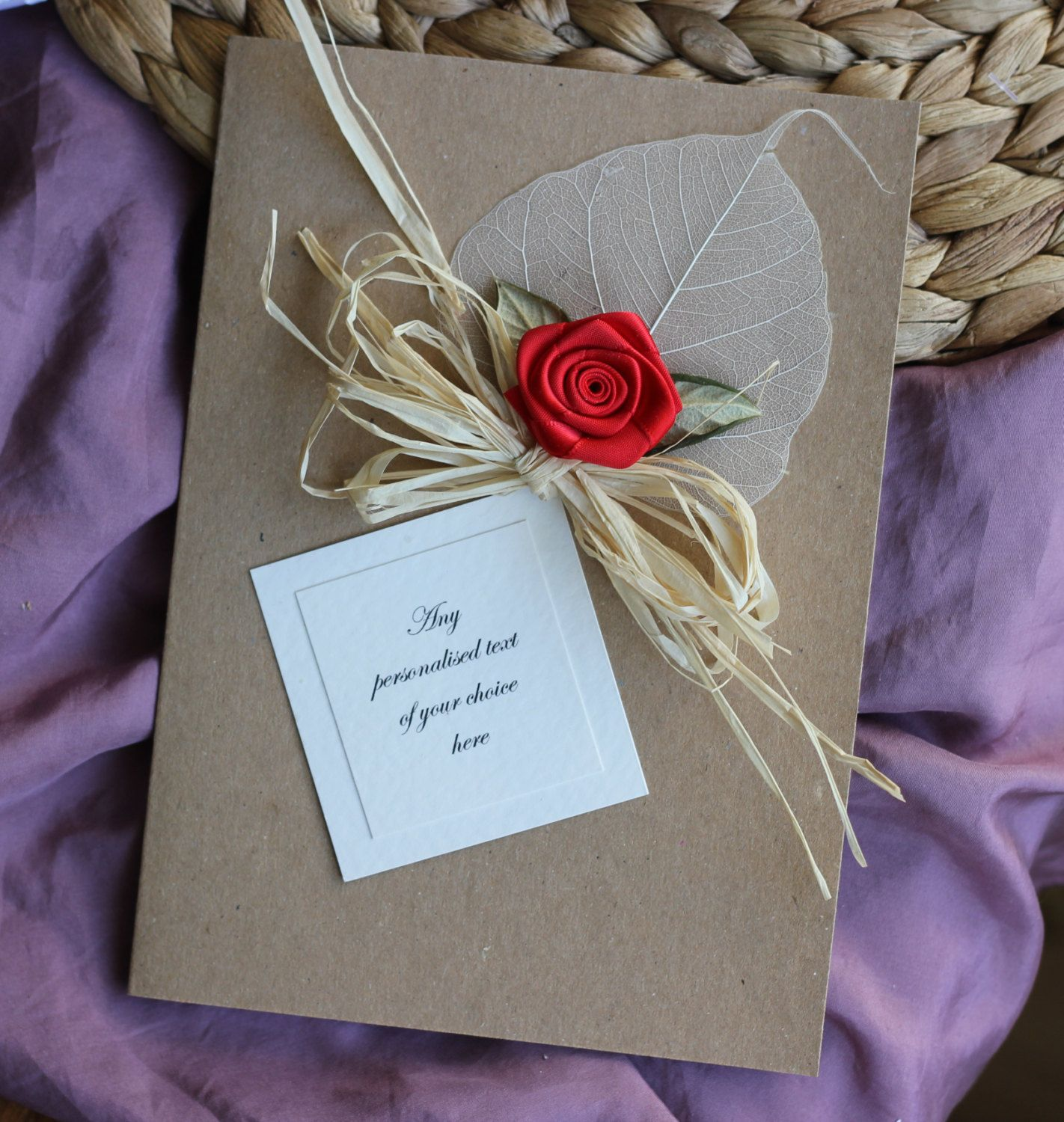 Handmade Flower Card For Boyfriends Xc Pinterest