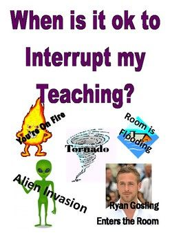 Interruption Poster Funny #scienceclassroom