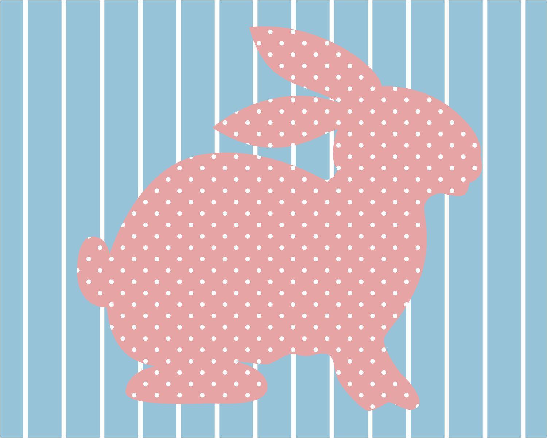 Full House Bunny Wallpaper Print. $15.00, via Etsy.