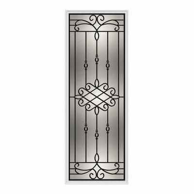 Front Door Window Insert Possibly Ordering A New Front Door In Chocolate With This Iron Glass D Frames On Wall Wrought Iron Front Door Front Doors With Windows