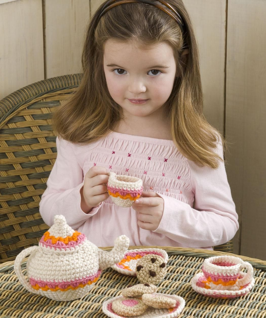 Tea and cookies party set free crochet pattern from red heart tea and cookies party set free crochet pattern from red heart yarns bankloansurffo Choice Image