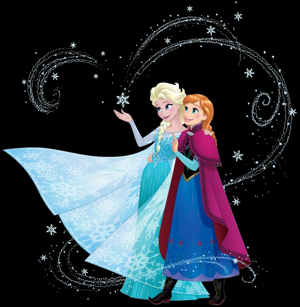 Anna and Elsa with snow magic Disney princess wallpaper