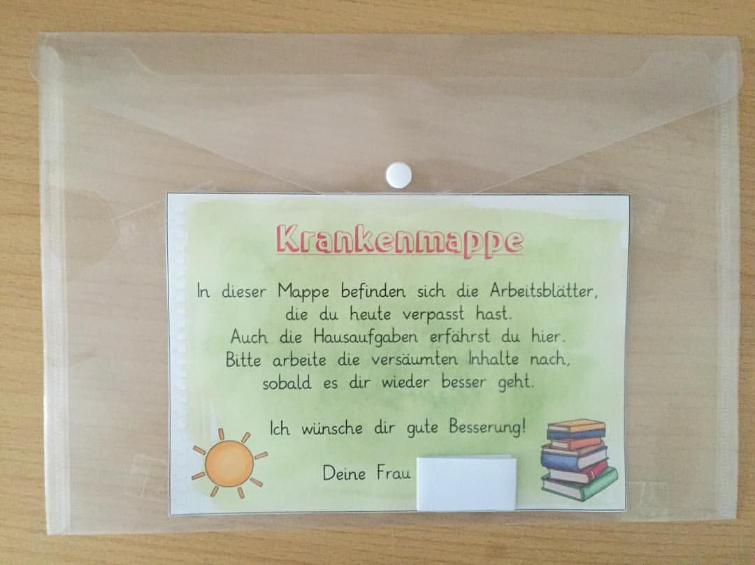 Briefe Für Lehrerin : Inspiriert durch die krankenmappe von materialwiese habe