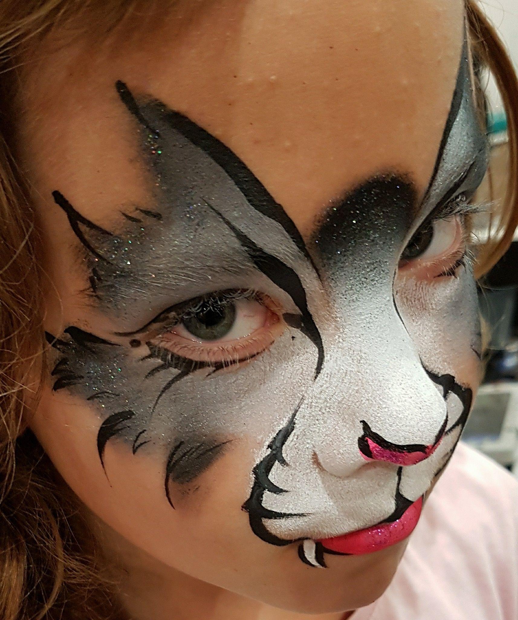 картинки как разукрасить лицо кошки кмб