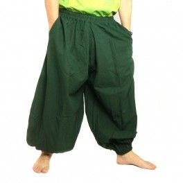 Photo of Harem pants cotton green