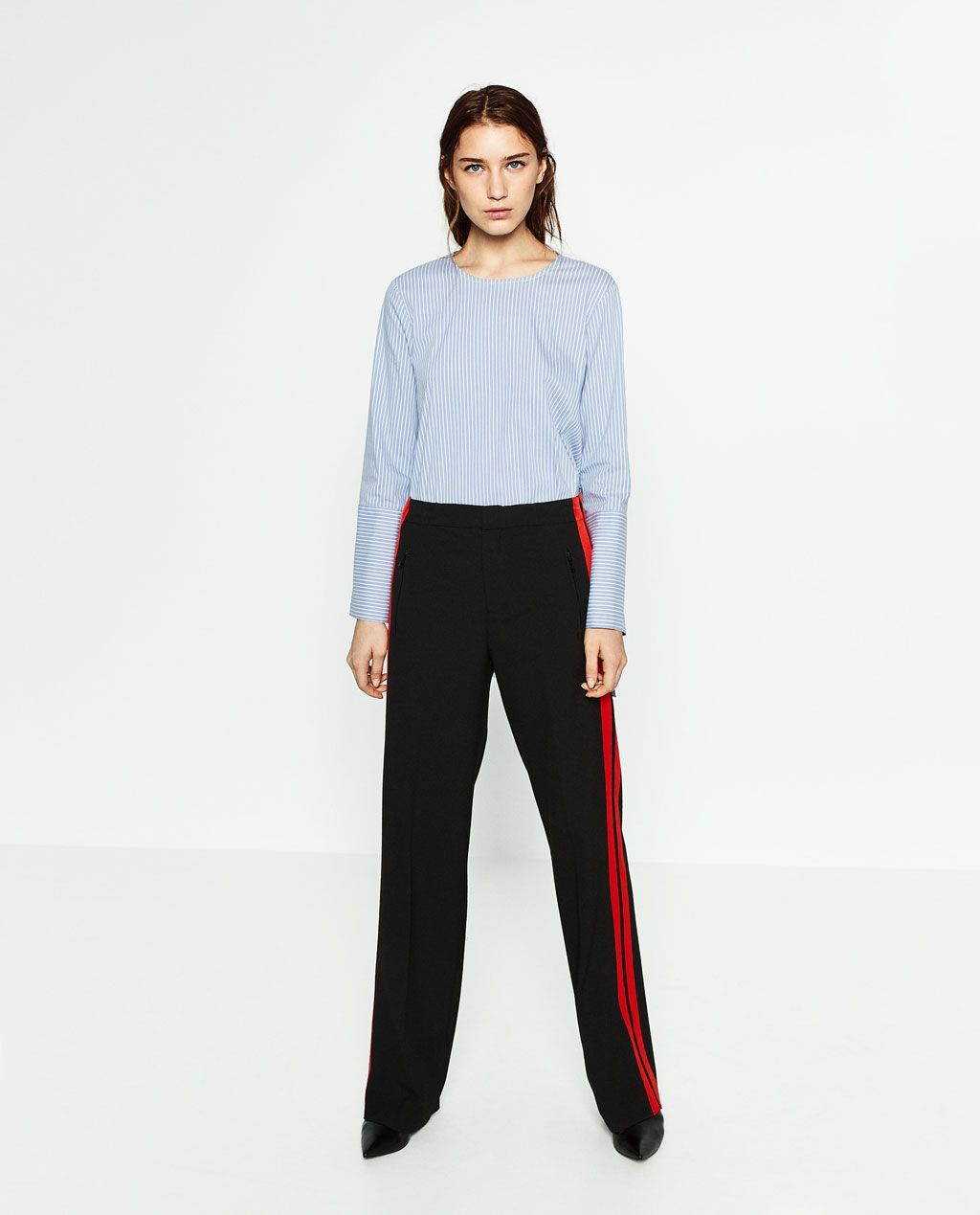 2de1487e TROUSERS WITH SIDE BAND-Joggers-TROUSERS-WOMAN | ZARA United States ...