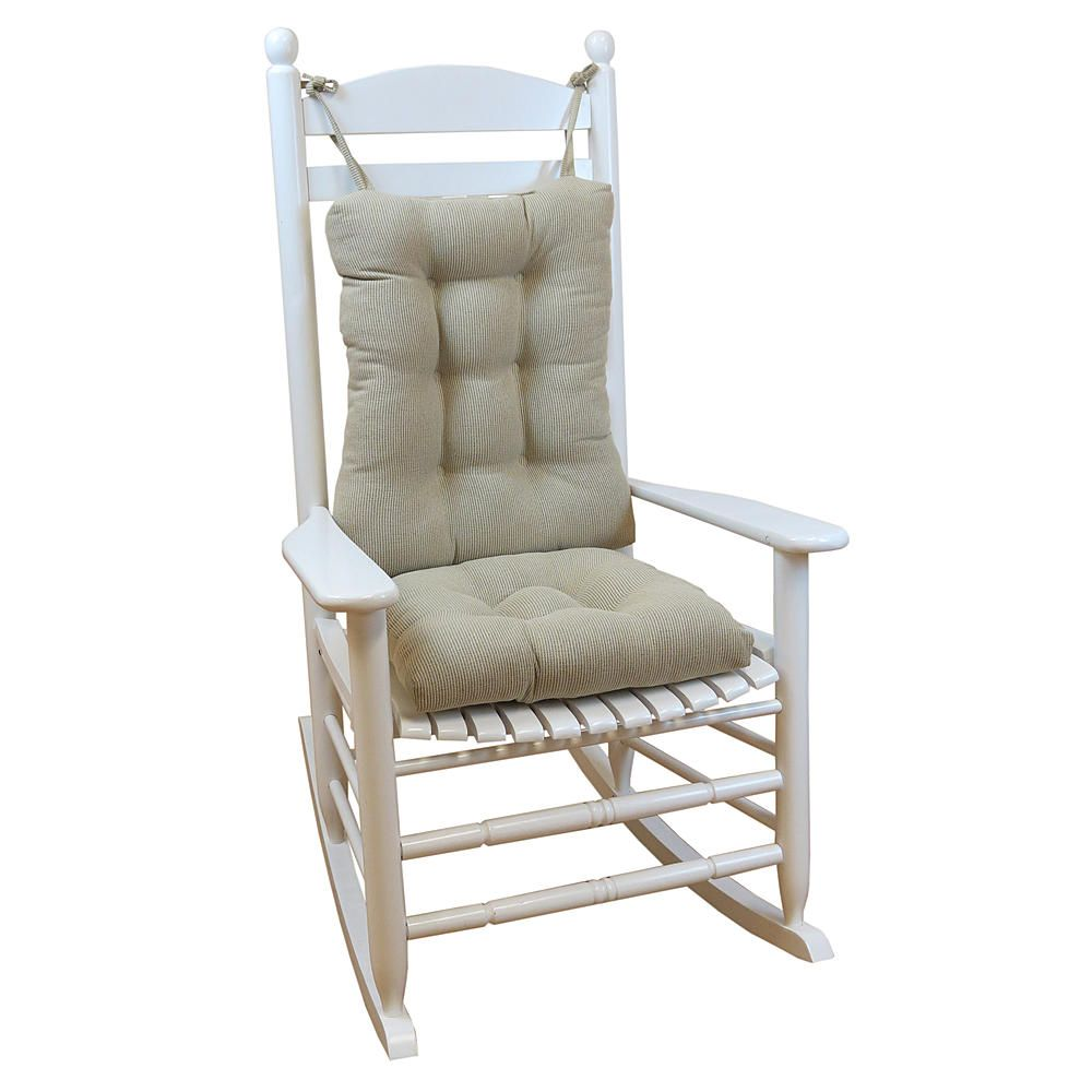 large rocking chair cushion sets white covers for sale uk this durable extra non slip rock set enhances the comfort of your