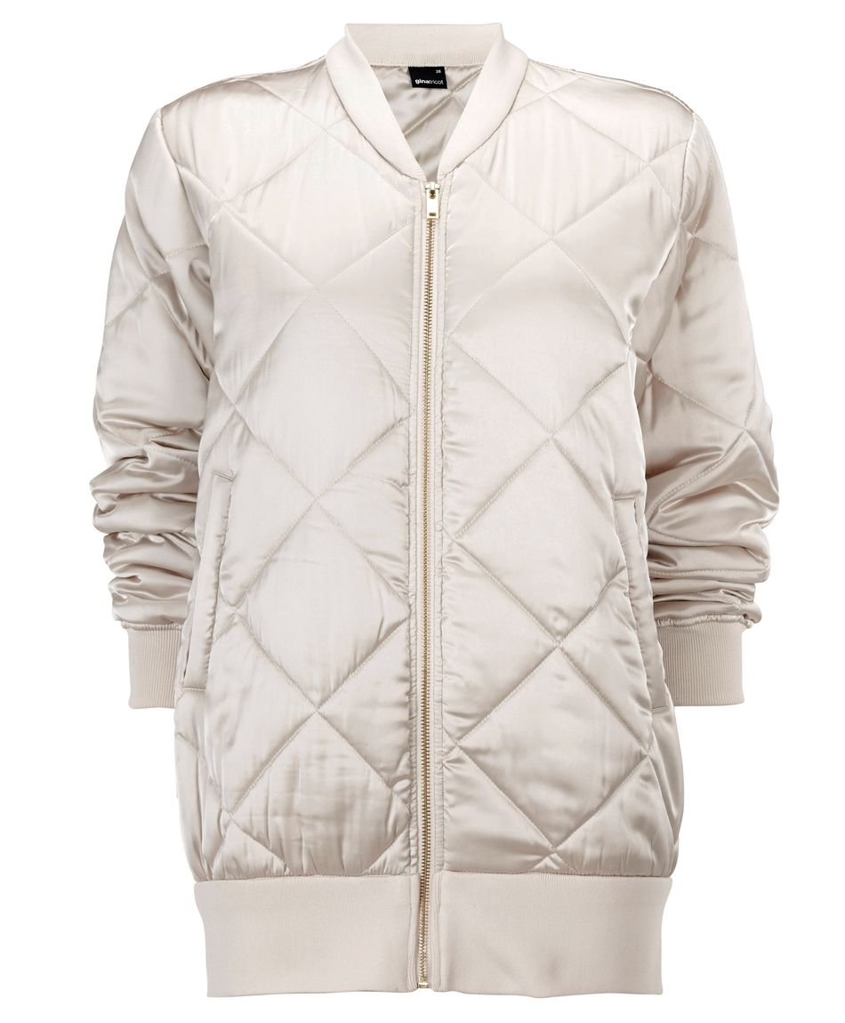 7873804b Quilted, padded bomber jacket with pockets in front | The Scandinavian It  Girls | www.ginatricot.com | #ginatricot
