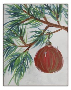 Red Ornament 11x14