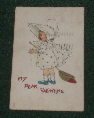 Vintage Tuck's Valentines Post Card No. 23 Of The Blue Belles Series