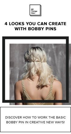 """While bobby pins were designed to be """"invisible"""", there are some really cool looks you can achieve with them. Don't believe us? Check out our gallery to discover how to work the basic bobby pin in creative new ways! #Ad"""