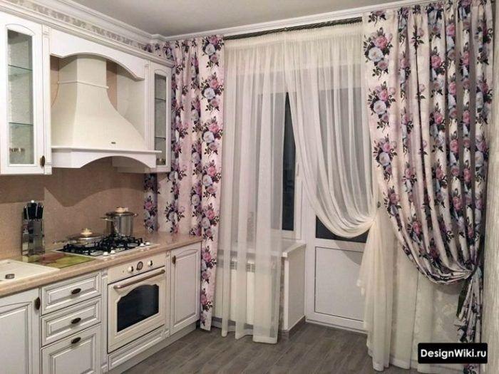 Шторы на Кухню с Балконной дверью - 123 фото (современный ...