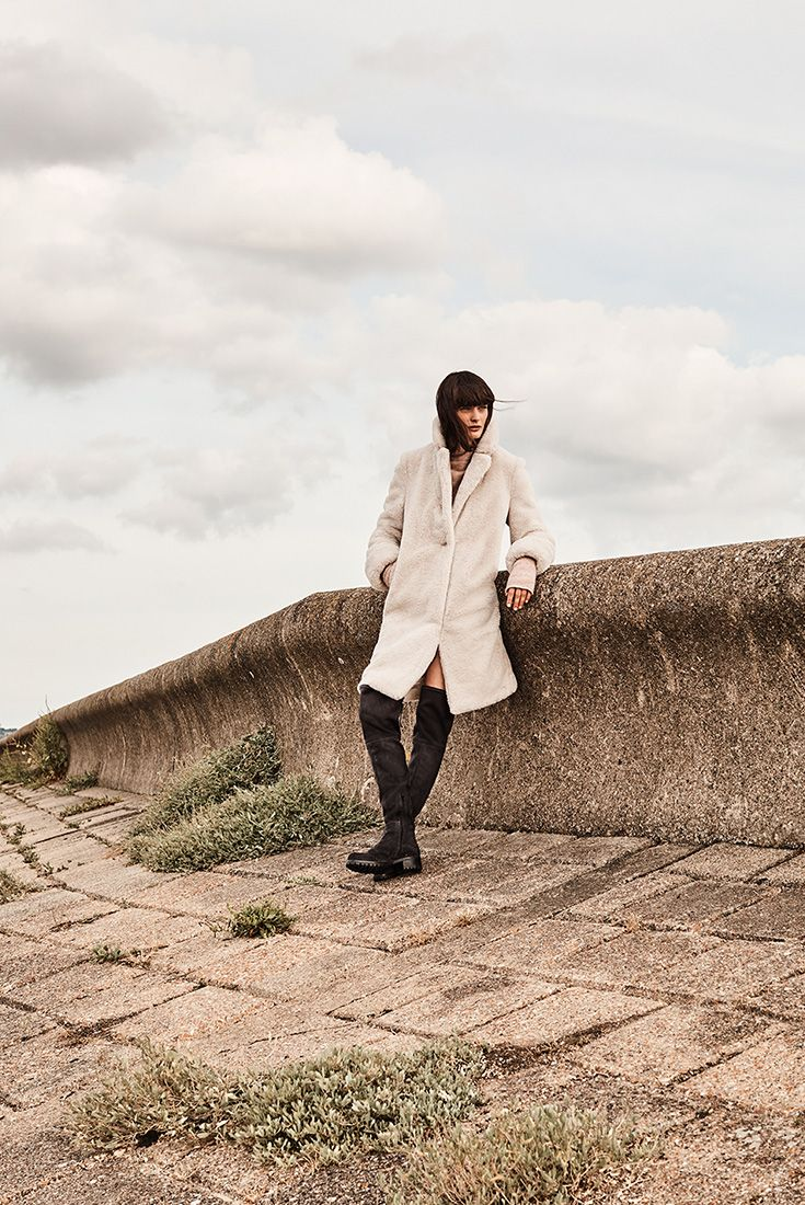The ultimate teddy coat has classic shape.