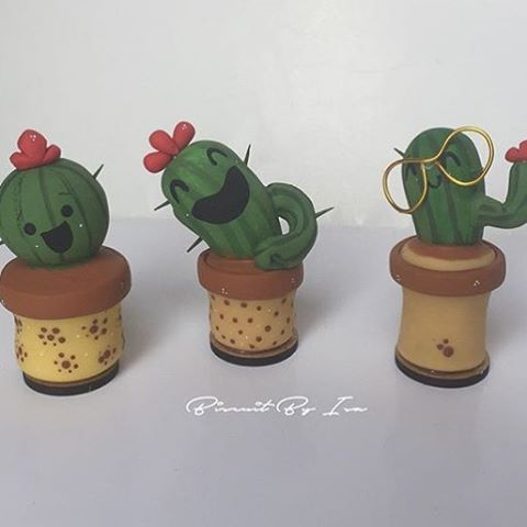 Adorei esses cactos!!!  By @biscuitbyisa