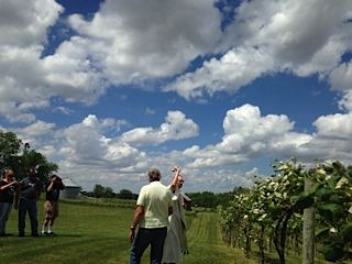 2014 - The Blessing of the Vines at our first music event!  Ensuring a great crop this year!