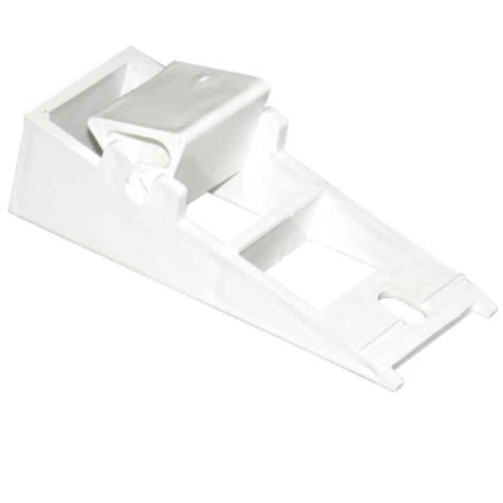 Amerimax Home Products Universal White Vinyl Fascia Fixer T0539 The Home Depot In 2020 White Vinyl Vinyl Gutter Gutter Accessories