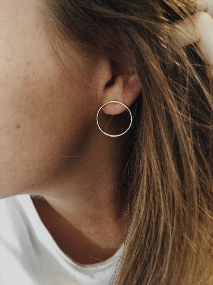 Earrings Ears Stud Ear Cuff Studs Gold Silver Piercing Sterling Hoop
