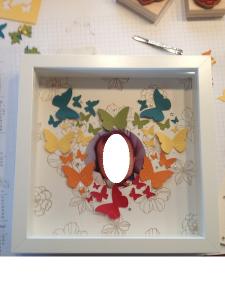 Bilderrahmen mit süßen Schmetterlingen