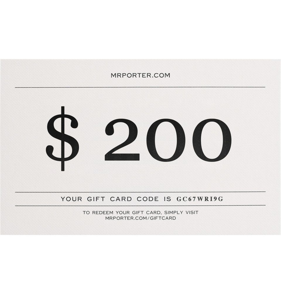 Boxed Gift Card  Mr Porter  Design Inspiration