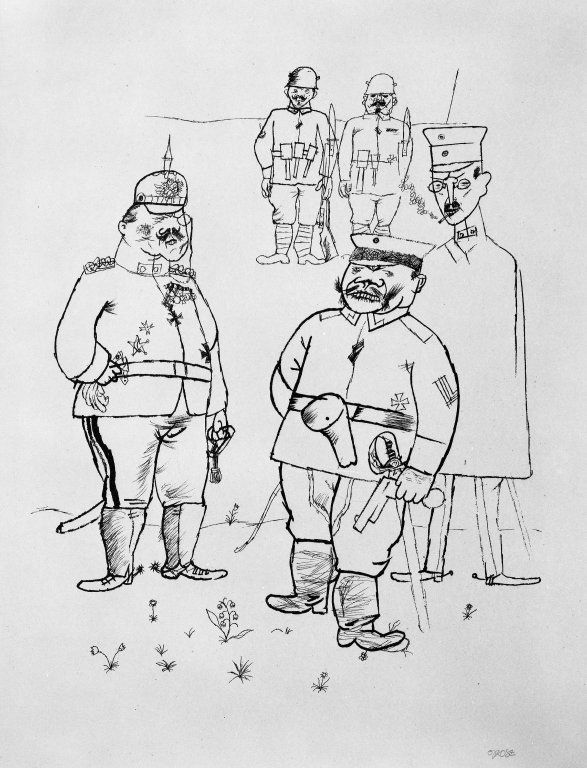 For German Right and German Morals (Für Deutsches Recht und Deutsche Sitte): George Grosz, 1919