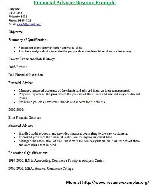 For more and various finance resumes examples visit wwwresume