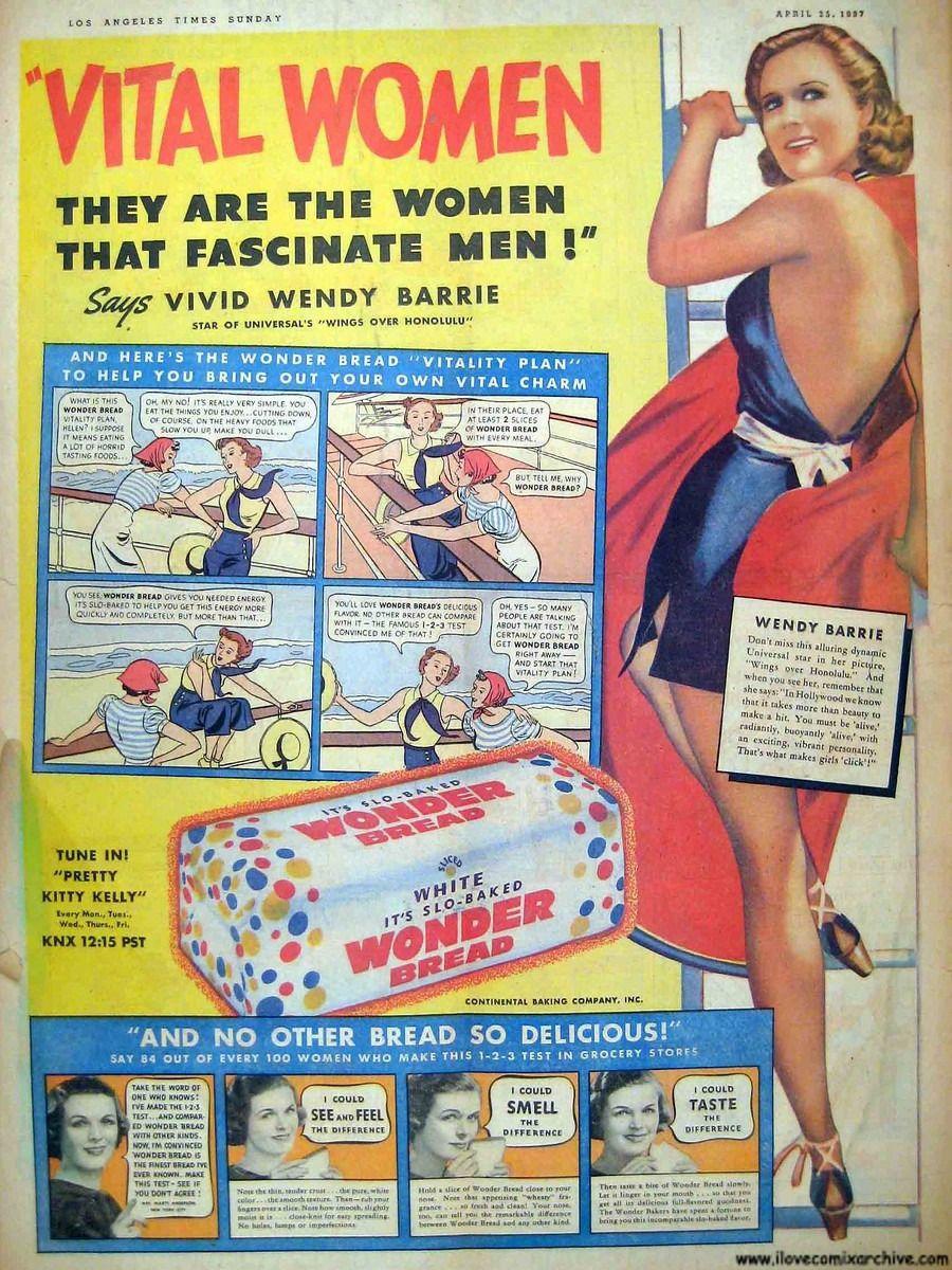 Wonder-Bread-Vital-Women-Comic-Strip-ad.jpg (900×1200)