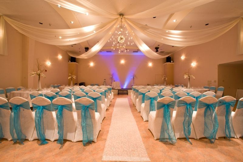 Turquoise Wedding Ideas | ... Demers Grand Ballroom With Turquoise Decor