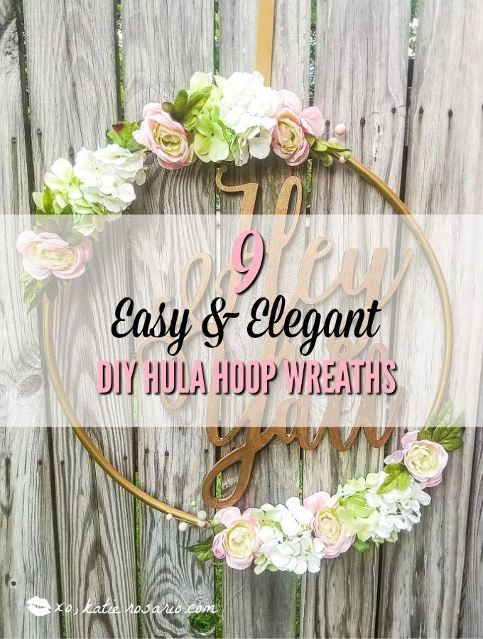 9 Easy & Elegant DIY Hula Hoop Wreaths | Diy wreath, How ...