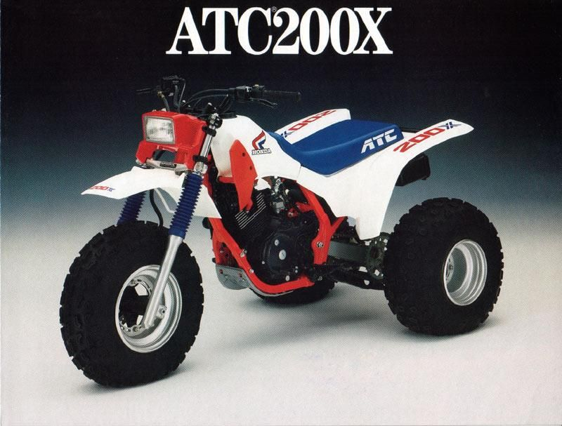 Honda ATC200X - 4 stroke, my buddy had a 1984 and I was in shock