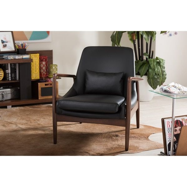 Outstanding Baxton Studio Carter Mid Century Modern Retro Black Faux Squirreltailoven Fun Painted Chair Ideas Images Squirreltailovenorg