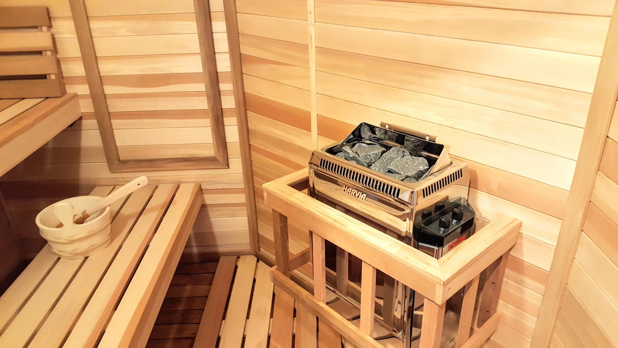 This Beautiful Sauna Was Custom Built To Fit A Space Once Used As A Closet.