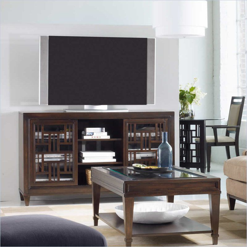 Hooker Furniture Ludlow 60 Inch Entertainment Console in Walnut - 1030-56402 - Lowest price online on all Hooker Furniture Ludlow 60 Inch Entertainment Console in Walnut - 1030-56402