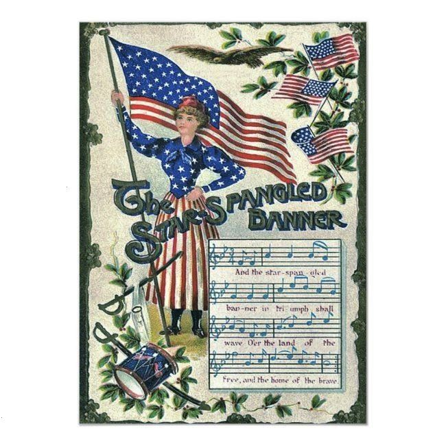 Liberty American Flag StarSpangled Banner InvitationLady Liberty American Flag StarSpangled Banner Invitation Happy 4th of July everyone Stay safe To all of you out there...