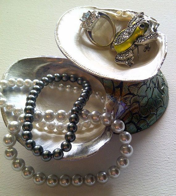 Two tier jewelry dish. just re-shot photos for this item, definitely an improvement!