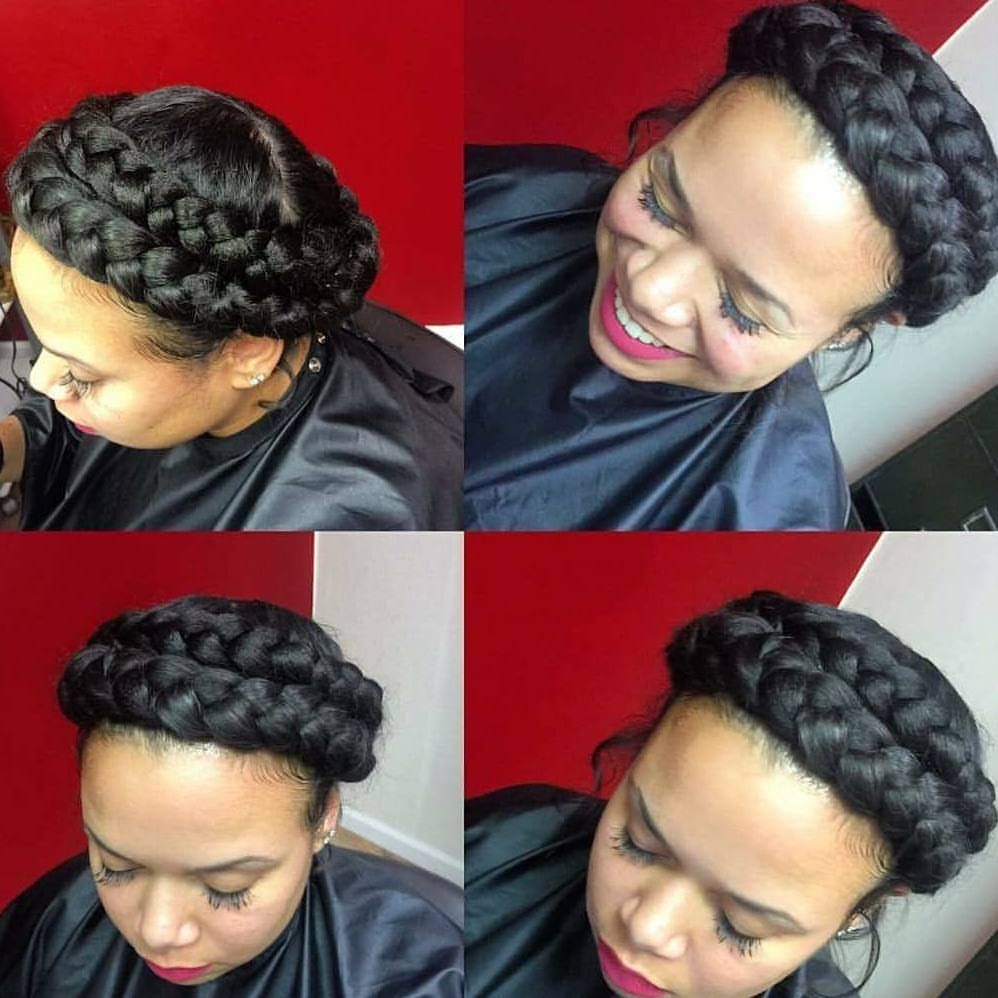 Double Halo Braid B Braided Hairstyles For Wedding Braids For Black Hair Short Hair Updo