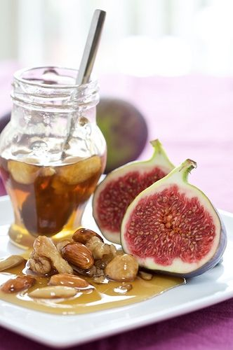 honey figs and nuts 3 comida higos vegetales pinterest