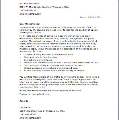 Example Complaint Letter Brilliant Police Letter  Letter Samples  Pinterest  Letter Sample