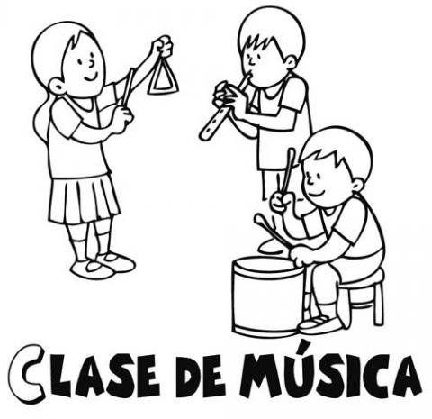 Dibujos Gratis De Clase De Musica Para Colorear Con Ninos Clase De Musica Letras De Disney Musica