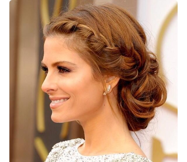 Braid to low side chignon