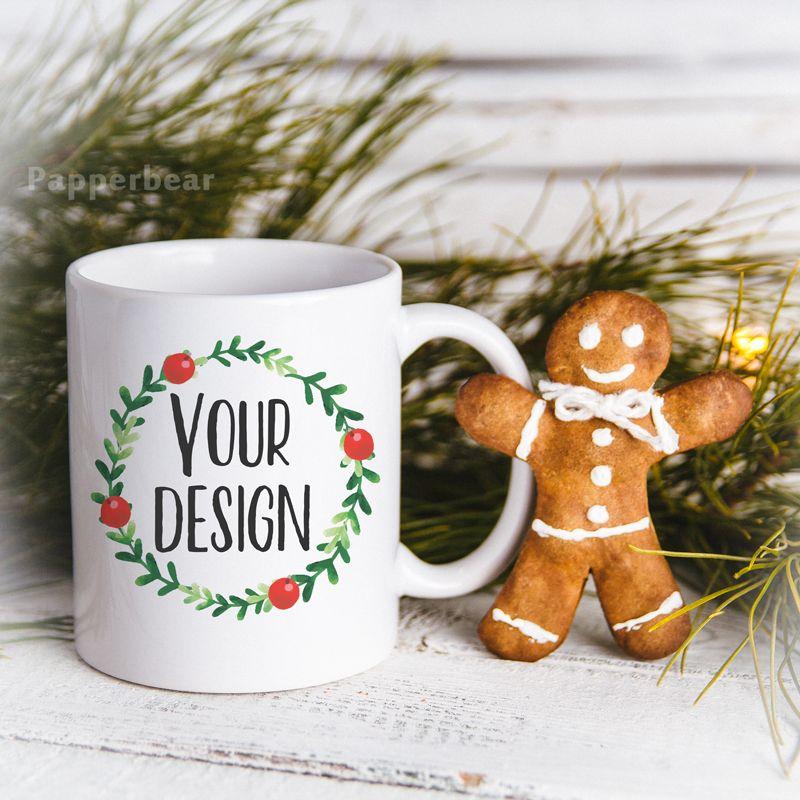 Christmas Styled Stock Mug Mock Up Christmas Mockup Blank Etsy Free Psd Mockups Templates Christmas Fashion Mockup Free Psd