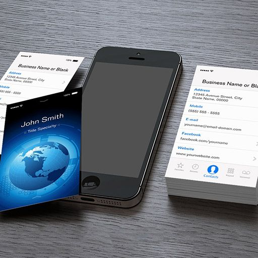 Cool Business Card Templates: Cool IPhone IOS Design Business
