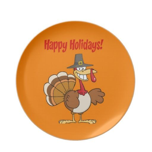 Shop Funny Turkey Thanksgiving Melamine Plate Created By Esoticastore.