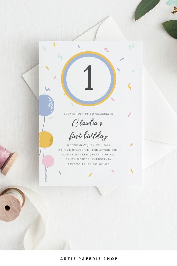 Invitation template blue and yellow balloons for birthday party invitation template blue and yellow balloons for birthday party template pdf editable with free program adobe acrobat reader all text editable b stopboris Image collections